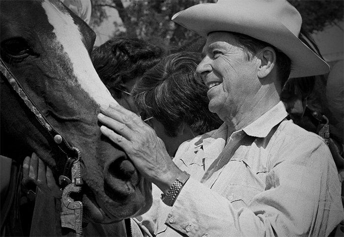 Reagan and horse2