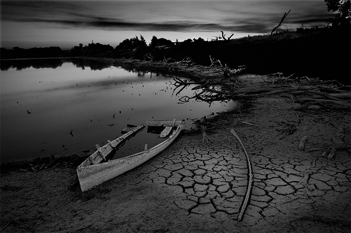 Boat and dead pond A