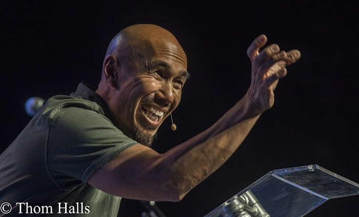 Author and lecturer Francis Chan brought an intensity with his message that inspired and challenged.