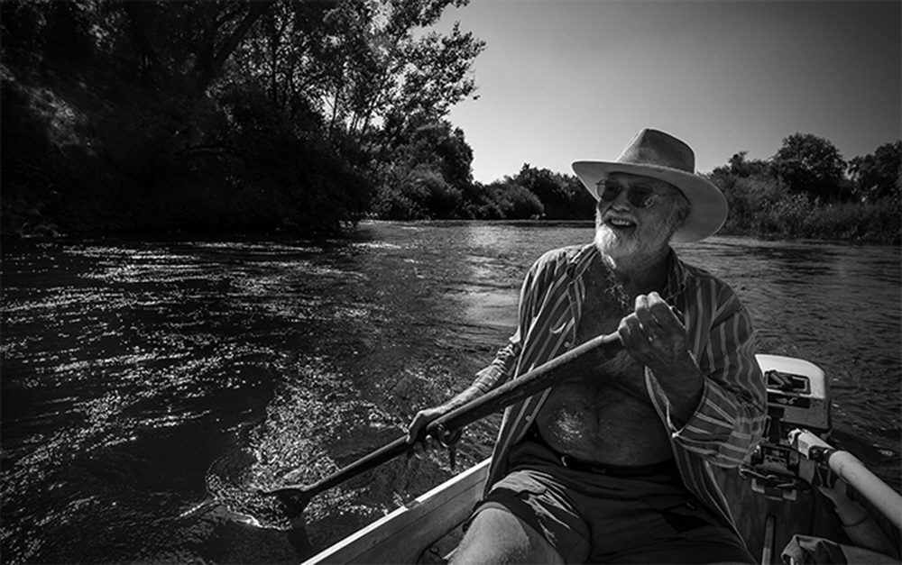 Fred Smeds was born on the Kings River and has never left.  A staunch advocate for river preservation, he travels the river daily, many times cleaning up what others have left to foul the waters.