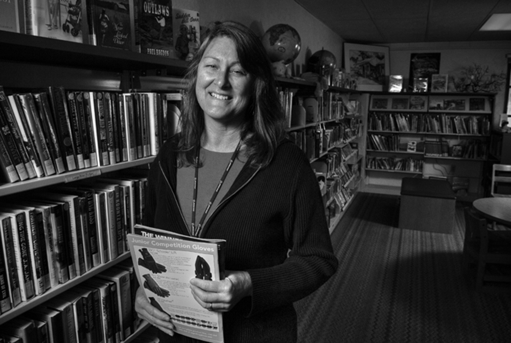 In the town of Piedra the only true business left is a public Lirbrary.  Nancy Spenser maintains part-time hours for residents of this small community in the foothills betow Pine Flat Dam.